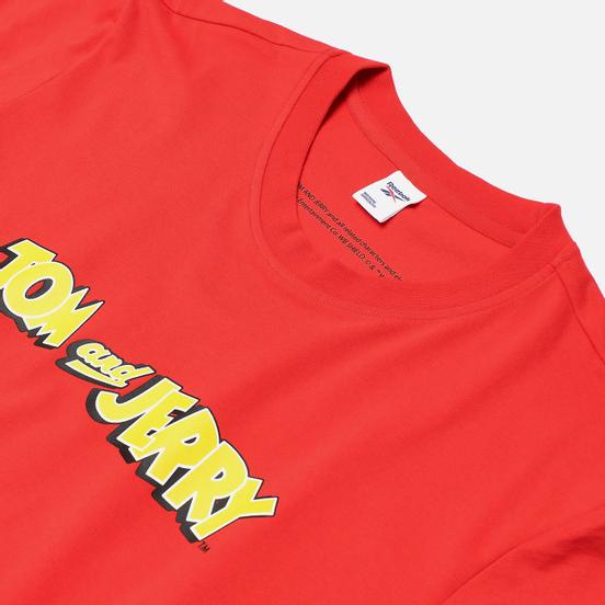 Мужская футболка Reebok x Tom & Jerry Regular Crewneck Motor Red