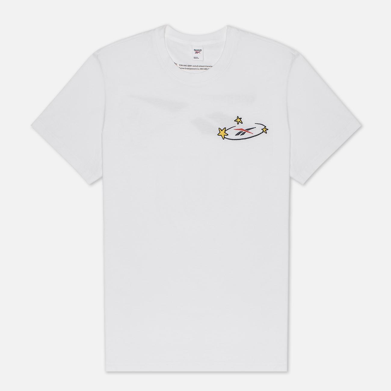 Мужская футболка Reebok x Tom & Jerry Regular Crewneck White