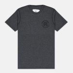 Reigning Champ Crest Logo SS Tee Men's t-shirt Heather Charcoal photo- 0