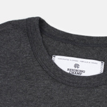 Reigning Champ Crest Logo SS Tee Men's t-shirt Heather Charcoal photo- 1