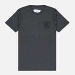 Мужская футболка Reigning Champ Crest Logo SS Tee Heather Charcoal фото- 0