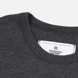 Мужская футболка Reigning Champ Crest Logo SS Tee Heather Charcoal фото- 3