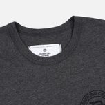 Мужская футболка Reigning Champ Crest Logo SS Tee Heather Charcoal фото- 1
