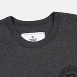 Reigning Champ Crest Logo SS Tee Men's t-shirt Heather Charcoal photo- 2
