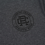 Reigning Champ Crest Logo SS Tee Men's t-shirt Heather Charcoal photo- 3