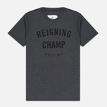 Мужская футболка Reigning Champ Gym Logo SS Tee Heather Charcoal фото- 0