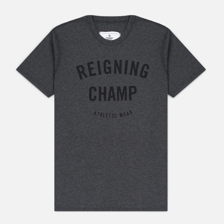 Мужская футболка Reigning Champ Gym Logo SS Tee Heather Charcoal
