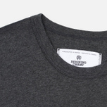 Мужская футболка Reigning Champ Gym Logo SS Tee Heather Charcoal фото- 3