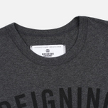 Мужская футболка Reigning Champ Gym Logo SS Tee Heather Charcoal фото- 1