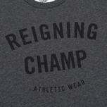 Мужская футболка Reigning Champ Gym Logo SS Tee Heather Charcoal фото- 2