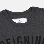 Мужская футболка Reigning Champ Gym Logo SS Tee Heather Charcoal фото- 2