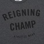 Мужская футболка Reigning Champ Gym Logo SS Tee Heather Charcoal фото- 3