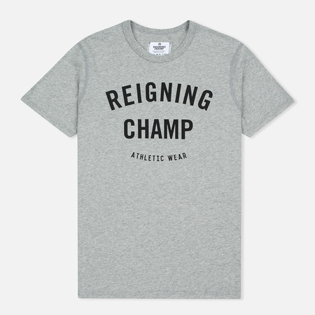 Reigning Champ Gym Logo SS Tee Men's T-shirt Heather Grey