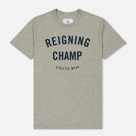 Мужская футболка Reigning Champ Gym Logo SS Tee Heather Grey/Navy