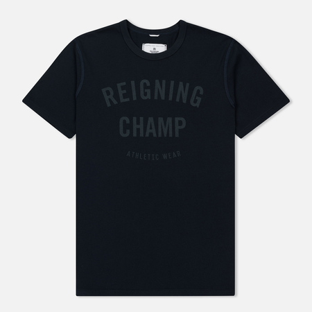 Мужская футболка Reigning Champ Gym Logo SS Tee Navy/Steel