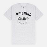 Мужская футболка Reigning Champ Gym Logo SS Tee Snow фото- 0