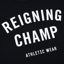Мужская футболка Reigning Champ Knit Cotton Jersey Gym Logo Black/White фото- 2