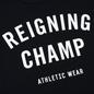Мужская футболка Reigning Champ Knit Cotton Jersey Gym Logo Black/White фото - 2