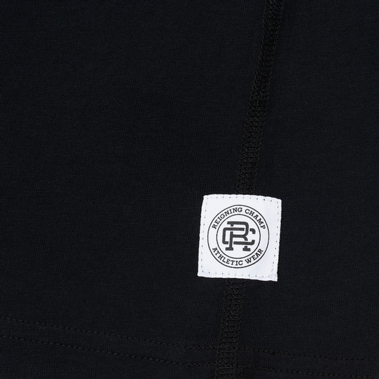 Мужская футболка Reigning Champ Knit Cotton Jersey Gym Logo Black/White