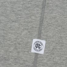 Мужская футболка Reigning Champ Knit Cotton Jersey Gym Logo Heather Grey/Black фото- 3