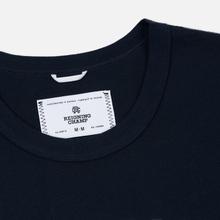 Мужская футболка Reigning Champ Knit Cotton Jersey Gym Logo Navy/White фото- 1
