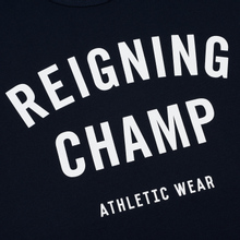 Мужская футболка Reigning Champ Knit Cotton Jersey Gym Logo Navy/White фото- 2