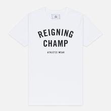 Мужская футболка Reigning Champ Knit Cotton Jersey Gym Logo White/Black фото- 0