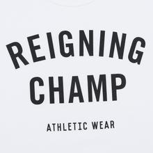 Мужская футболка Reigning Champ Knit Cotton Jersey Gym Logo White/Black фото- 1