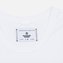 Мужская футболка Reigning Champ Knit Cotton Jersey Gym Logo White/Black фото- 2