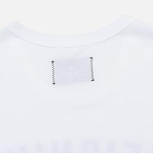 Мужская футболка Reigning Champ Knit Cotton Jersey Gym Logo White/Black фото- 3