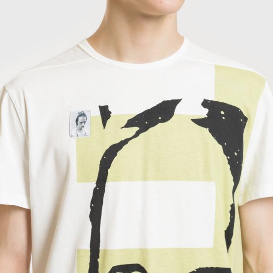 Мужская футболка Rick Owens DRKSHDW Graphic Print 2 Milk/Dark Lime