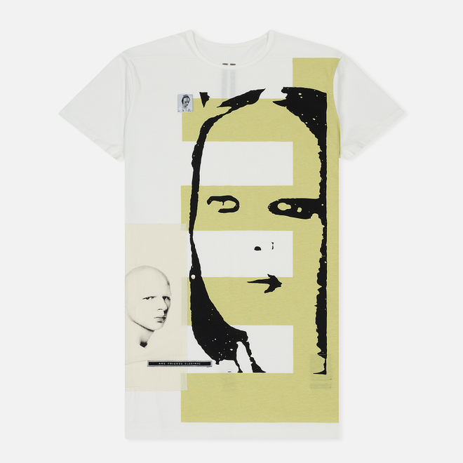 Мужская футболка Rick Owens DRKSHDW Graphic Print 2 Milk/Dark Lime