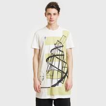 Мужская футболка Rick Owens DRKSHDW Graphic Print 3 Milk/Dark Lime фото- 1