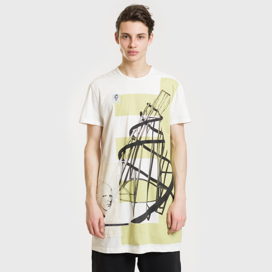 Мужская футболка Rick Owens DRKSHDW Graphic Print 3 Milk/Dark Lime