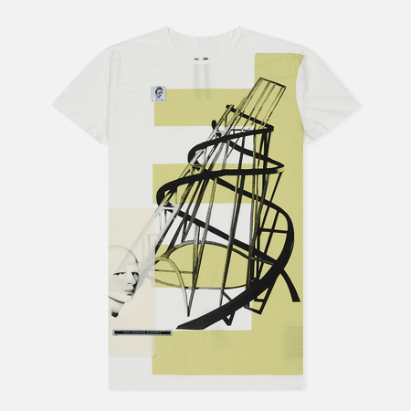 Мужская футболка Rick Owens DRKSHDW Graphic Print 3 Milk/Dark Lime