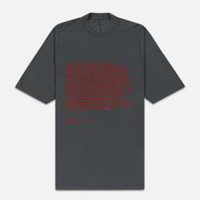 Мужская футболка Rick Owens DRKSHDW Jumbo Affliction Print Flint/Cherry фото- 0