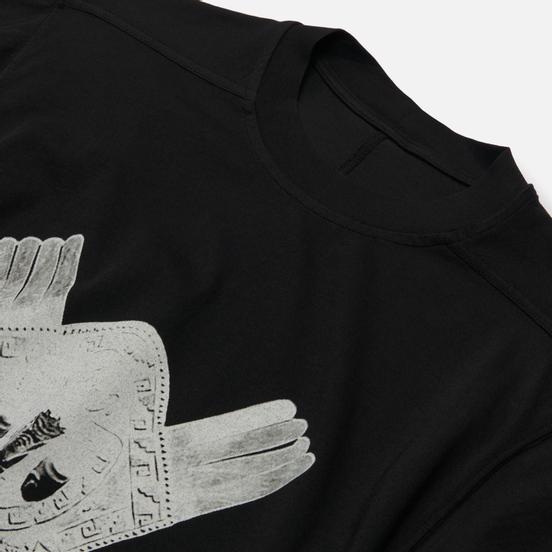 Мужская футболка Rick Owens DRKSHDW Tecuatl Aztec Mask Jumbo Oversized Fit Black/Pearl