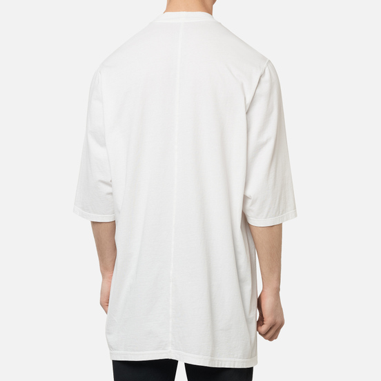 Мужская футболка Rick Owens DRKSHDW Tecuatl Jumbo Oversized Fit Chalk White