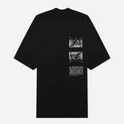 Мужская футболка Rick Owens DRKSHDW Tecuatl Pentagram Jumbo Oversized Fit Black/Pearl