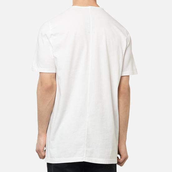 Мужская футболка Rick Owens DRKSHDW Tecuatl Pentagram Level Chalk White/Black