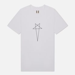 Мужская футболка Rick Owens DRKSHDW Tecuatl Pentagram Level Chalk White/Black