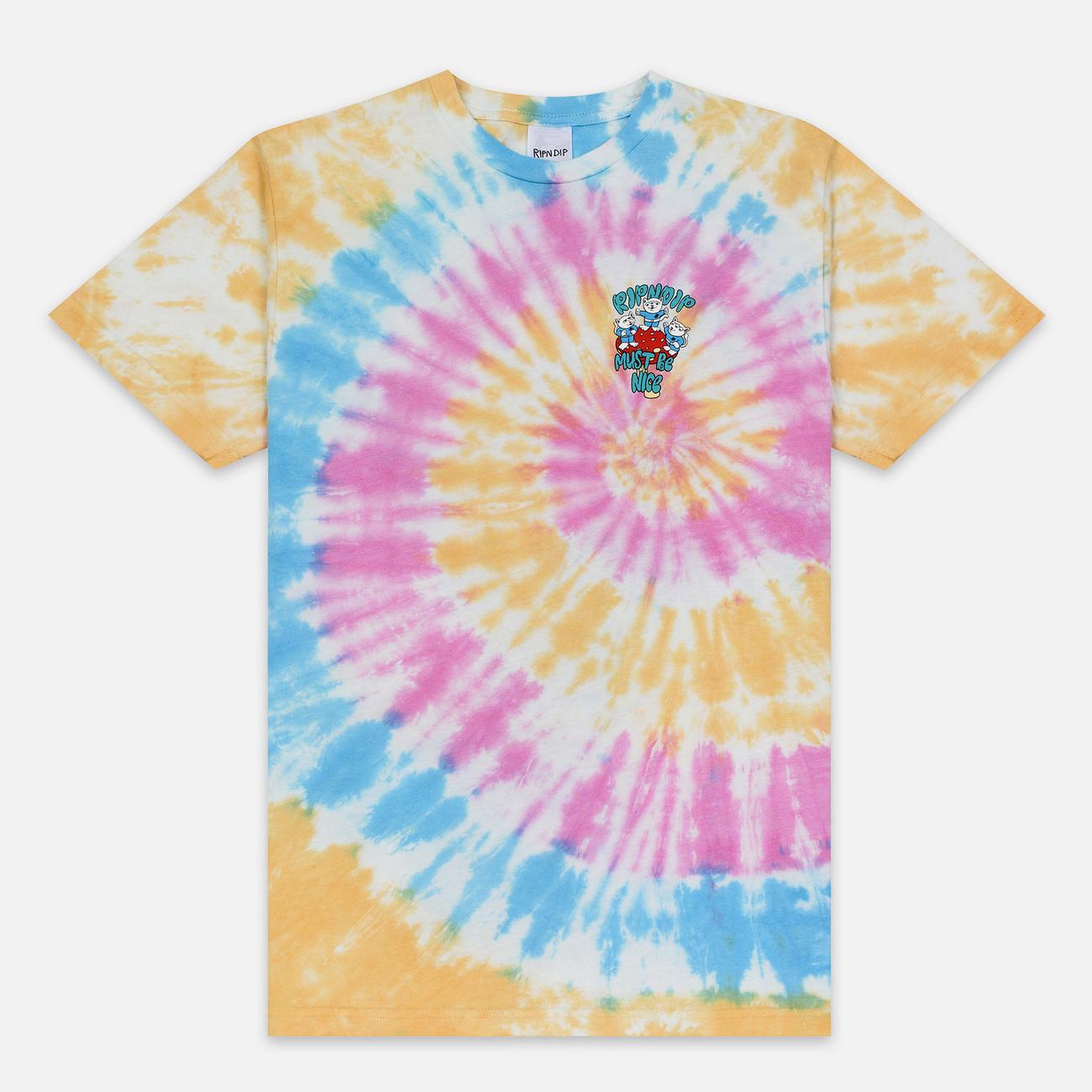 Мужская футболка RIPNDIP Alien Nerm Gold Rainbow Wash