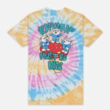 Мужская футболка RIPNDIP Alien Nerm Gold Rainbow Wash фото- 3