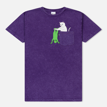 Мужская футболка RIPNDIP Break Yo Self Pocket Purple Mineral Wash