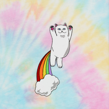 Мужская футболка RIPNDIP Double Nerm Rainbow Pastel Spiral Dye фото- 2