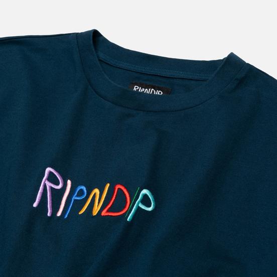 Мужская футболка RIPNDIP Embroidered Logo Navy