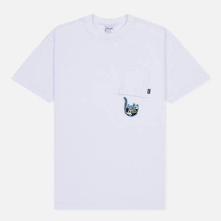 Мужская футболка RIPNDIP Falling Electrocuted Pocket White