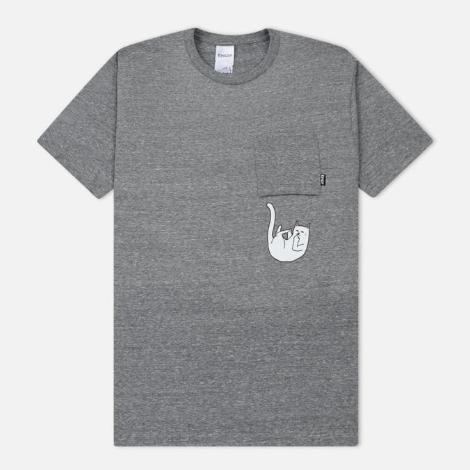 Мужская футболка RIPNDIP Falling For Nermal Pocket Grey