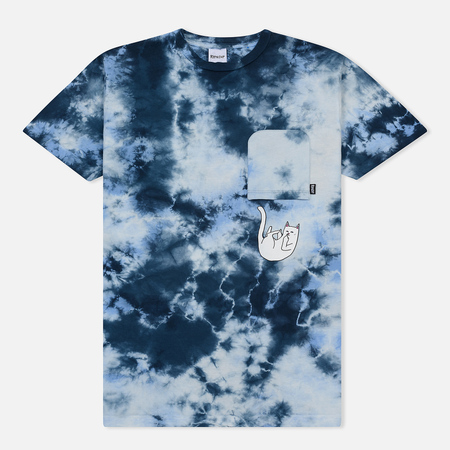 Мужская футболка RIPNDIP Falling For Nermal Pocket Baby Blue Tie Dye