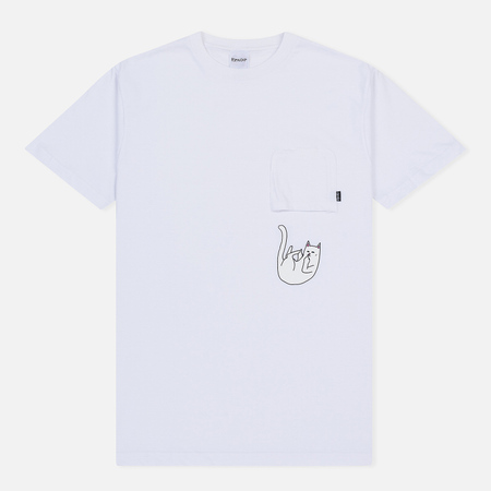 Мужская футболка RIPNDIP Falling For Nermal Pocket White